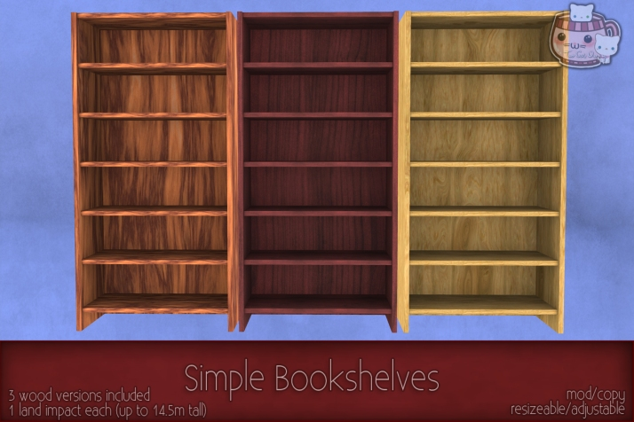 c( TC ) Simple Bookshelves